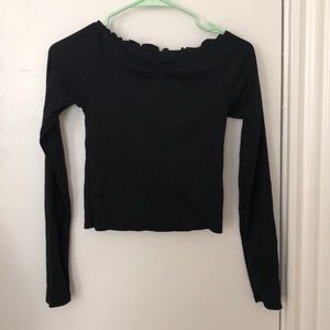 wild fable Tops - NWOT: black ribbed off the shoulder top